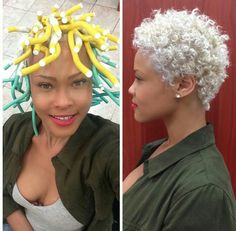 Flexi Rod Tutorial on Transitioning or Relaxed Hair