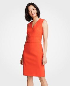 acc5b10898d Shop Ann Taylor for effortless style and everyday elegance. Our Petite  Doubleweave V-Neck Sheath Dress is the perfect piece to add to your closet.