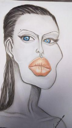 Caricature Angelina jolie