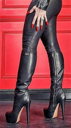 Select a great New diapason opposite sex knee substantially high boots. Go level of waking time, thereafter vamp up the process by overnight with these heeled styles. Stiletto Boots, High Heel Boots, Heeled Boots, Knee Boots, Bootie Boots, Platform High Heels, Black High Heels, Platform Boots, Womens Thigh High Boots