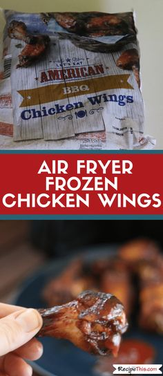 Air Fryer Chicken Wings From Frozen Ways). Here are 3 versions of cooking frozen chicken wings in the air fryer. All your favourite flavours included. Air Fryer Recipes Chicken Wings, Air Fry Chicken Wings, Frozen Chicken Wings, Cooking Chicken Wings, Air Fryer Oven Recipes, Air Fry Recipes, Chicken Wing Recipes, Kid Recipes, Recipies