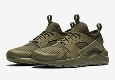 The Nike Air Huarache Ultra is rendered in Military Green for its latest iteration this Spring 2016. Find it at Nike retailers very soon.