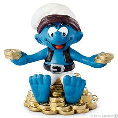 Schleich Treasure Smurf OK