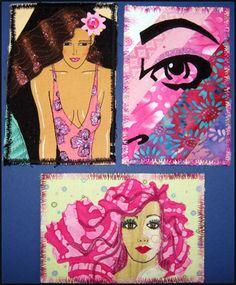 fabric postcards