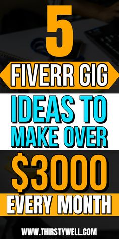 Are you looking to make money from Fiverr then this article is for you as you will learn about 5 gigs ideas in which you can make over $3000 per month. Read more in the article.    #fiverrgigsideas  #fiverrideasmakemoney  #fiverrideas Online Earning, Earn Money Online, Making A Wordpress Website, Excellence Quotes, Invoice Design, Create A Logo, Affiliate Marketing, How To Make Money, Web Design