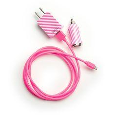 the power trip - ticket stripe in neon pink