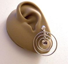 Large Round Domed Solid Light Beige 25mm Earrings Clip On Resin