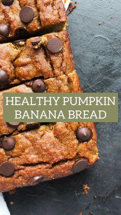 Healthy Pumpkin Bread, Pumpkin Banana Bread, Healthy Banana Bread, Best Banana Bread, Gluten Free Pumpkin, Gluten Free Desserts, Pumpkin Puree, Healthy Pumpkin Recipes, Baked Pumpkin