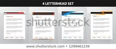 Letterhead Template Set Letterhead Design, Letterhead Template, New Pictures, Land Scape, Royalty Free Photos, Create Yourself, Templates, Letterhead, Stencils