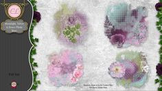 CLGraphics Moonlight Velvet and Roses Mats