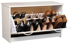 Shoe storage, perfect for entry closets or even garages!