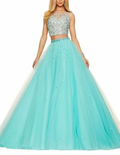 2017 New Two pieces Elegant Quinceanera Dresses Ball Gown With Beading 15 Years Long Prom Debutante Gown Sweet 16 Dresses Pretty Prom Dresses, Hoco Dresses, Sweet 16 Dresses, Sweet Dress, Ball Dresses, Homecoming Dresses, Beautiful Dresses, Ball Gowns, Evening Dresses