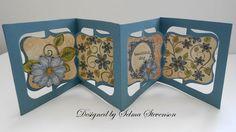 Selma's Stamping Corner and Floral Designs: Accordion Flip 3-D Card