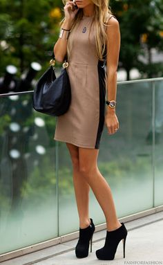 Love Booties and dresses with the stripes on the side.  Great for girls with hips