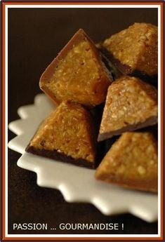 Bouchées flocon d'avoine / caramel / chocolat