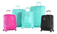 Groupon - Olympia USA Luxe Expandable Spinner Suitcase Set (3-Piece). Groupon deal price: $139.99