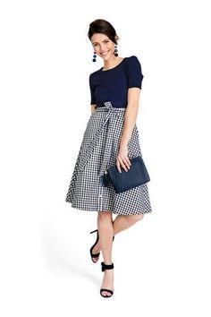 Channing Gingham Skirt