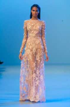 Get the look of a princess from Elie Saab's spring/summer 14 couture collection http://uk.bazaar.com/1fZUWGE