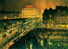 ポンヌフ、夜
