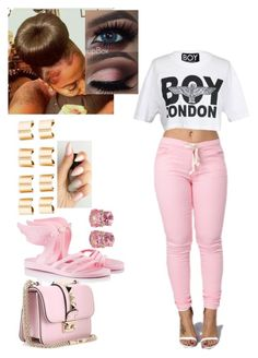 """""""London Boy"""" by misslewis97 ❤ liked on Polyvore featuring Ancient Greek Sandals, Valentino, BOY London, Maison Margiela and Christina Addison"""