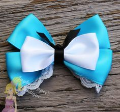 Alice in Wonderland hair bow Alice inspired hair clip