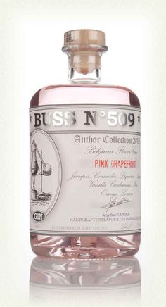 Buss No 509 Pink Grapefruit Gin Tequila, Vodka, Cocktail Drinks, Alcoholic Drinks, Beverages, Cocktail Recipes, Pink Grapefruit Gin, Flavoured Gin, Gin Brands