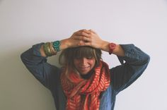 Tomboy Style: block print scarves