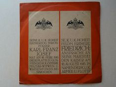 Kaiser Karl, Friedrich, Herzog, Austria, Paper Shopping Bag, Pictures, Vinyl Records, Army