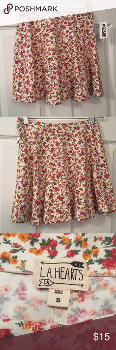 PacSun LA Hearts Floral Skater Skirt 💕 Brand new with tags 💕 LA Hearts Skirts Circle & Skater