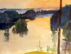 Landscape, Albert Gustaf Aristides Edelfelt (21 July 1854 – 18 August 1905), http://www.arthermitage.org/Albert-Edelfelt/Landscape.html