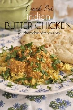 Crock Pot Indian Butter Chicken*** best Indian food we have made so far*** Family friendly on spices but for my plate I had to spice it up