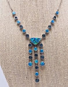 Fine Jewelry 18 Other Fine Jewelry Sterling Silver Fire Opal Flower Pendant Necklace