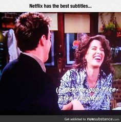 Netflix captions are gold janice friends, friends tv, funny pins, funny mem Friends Funny Moments, Friends Scenes, Friends Tv Show, Janice Friends, Really Funny, The Funny, Friend Jokes, Funny Memes, Hilarious