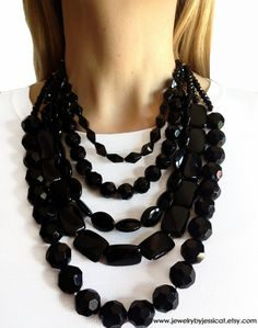 Chunky Pewter Colour Statement Funky Jewellery, Spike Statement Necklace