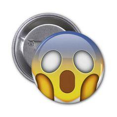 Face Screaming In Fear Emoji Button