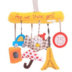 Musical Hanging Mobile with Fabric Toys:  Price: $8.99 & FREE Worldwide Shipping.  Visit us and see our 300+ catalog.  We sell toys, materials and costumes with a learning purpose.  Your kids will thank you later!