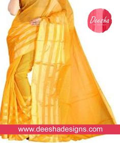 Call at  +91 901- 007-3603  #DeeshaDesigns #SilkSarees #PartyWear #DesignerSaree  Check out our Glamorous,Fabulous and Stunning Yellow Silk Sarees. This make you look classy and chic with the minimum amount of effort & you will look the best.  www.deeshadesigns.com