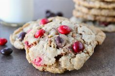 Cinnamon M Oatmeal Cookies (made w/ holiday cinnamon M, but would be great w/ any M!)