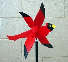 Description Cardinal Whirligig