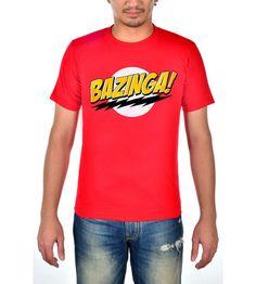 The Big Bang Theory Bazinga - Red - T-shirt