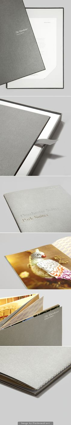 Dorchester Suites pack – Client: The Dorchester Designer: &Smith Year: 2012 Kind: Brochures Promotional pieces Size: Booklet: 345mm x 235mm