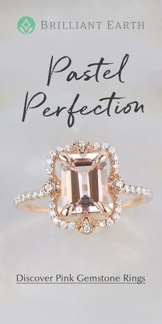 Explore our collection of unique gemstone rings. Jewelry Rings, Jewelery, Jewelry Accessories, Morganite Engagement, Engagement Rings, Or Rose, Rose Gold, Just In Case, Just For You