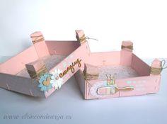 Mad Scrap Project: Tutorial cajas de fresas decoradas con Chalk Paint