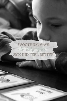 5 Soothing Ways To Help Your Sick Kid Feel Better | Growing Up Herbal | Being sick is tough on kids and parents. Here are some natural remedies and soothing methods to help your kids feel better faster.