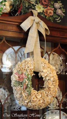 Tutorial for Coffee Filter Wreath