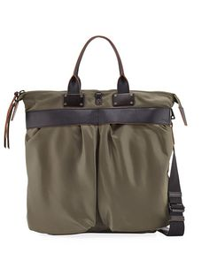 RAG & BONE Pilot Nylon Tote Bag, Olive, 377Olive. #ragbone #bags #shoulder bags #hand bags #nylon #tote #lining #