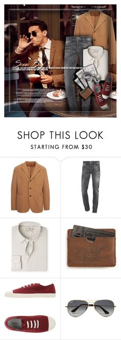 """Men's Fashion"" by monazor ❤ liked on Polyvore featuring Barena, 7 For All Mankind, MANGO MAN, Herschel Supply Co., Mauro Grifoni, Ray-Ban, men's fashion, menswear, MensFashion and autumnstyle"