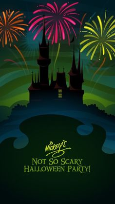 Mickey's Not So Scary Halloween Party ~ Cell Phone Wallpaper