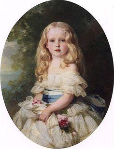 """""""Luise von Boden, Princess Biron of Curland Franz Xavier Winterhalter 1856 Painting - oil on canvas Height: 127.3 cm (50.12 in.), Width: 88.9 cm (35 in.) Deutsches Historisches Museum - Berlin (Germany) Image via the Athenaeum"""""""