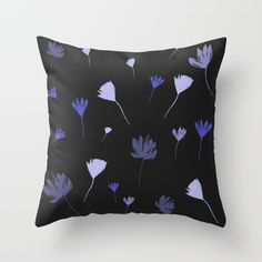 Flowers in the Night I Throw Pillow